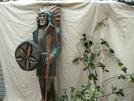 cigar store indian wood statue figure